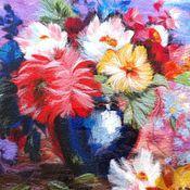 """Картины и панно ручной работы. Ярмарка Мастеров - ручная работа картина из шерсти,  натюрморт """" цветы в вазе"""". Handmade."""