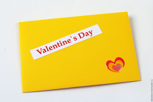 конверт ко Дню Святого Валентина