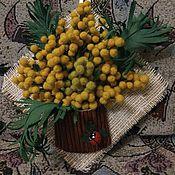 Для дома и интерьера ручной работы. Ярмарка Мастеров - ручная работа `Мимоза весенняя`. Handmade.