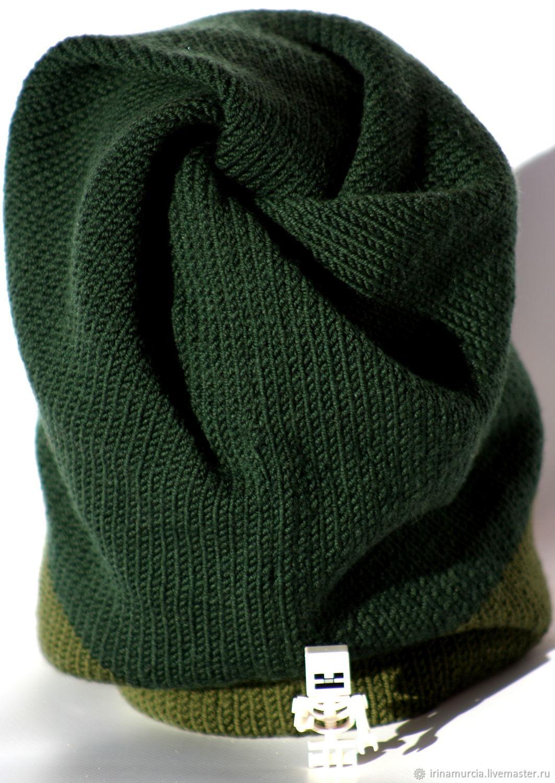 Minecraft hat knit 25d33dcc34d