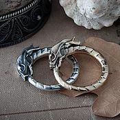 Украшения handmade. Livemaster - original item Ring Ouroboros. Snake Ring. Dragon ring. bronze silver.. Handmade.