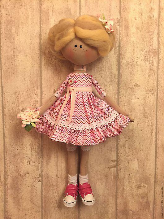 Коллекционные куклы ручной работы. Ярмарка Мастеров - ручная работа. Купить - АНЮТА - авторская кукла. Handmade. Розовый, игрушка в подарок