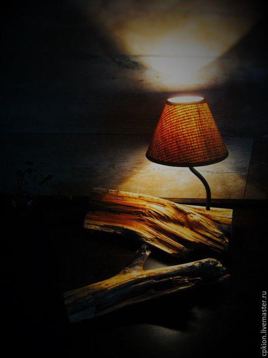 """Освещение ручной работы. Ярмарка Мастеров - ручная работа. Купить Светильник  """" Полен """". Handmade. Коричневый, лампа настольная"""