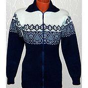 Одежда ручной работы. Ярмарка Мастеров - ручная работа Вязаная кофта на молнии. Handmade.