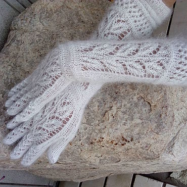 Accessories handmade. Livemaster - original item Gloves long fishnet Gift. Handmade.