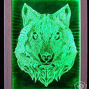 Картины и панно handmade. Livemaster - original item wolf. painting with lights. Handmade.
