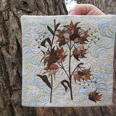 """Картины и панно ручной работы. Ярмарка Мастеров - ручная работа """"Зимние цветы"""". Handmade."""