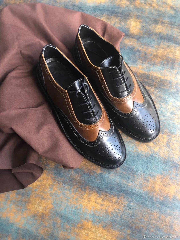 Men's shoes 'Oxford' korich/black black sole, Oxfords, Moscow,  Фото №1