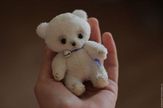 Мишки Тедди ручной работы. Ярмарка Мастеров - ручная работа. Купить Тедди Мишка Белый Мими Миниатюра. Handmade. Белый