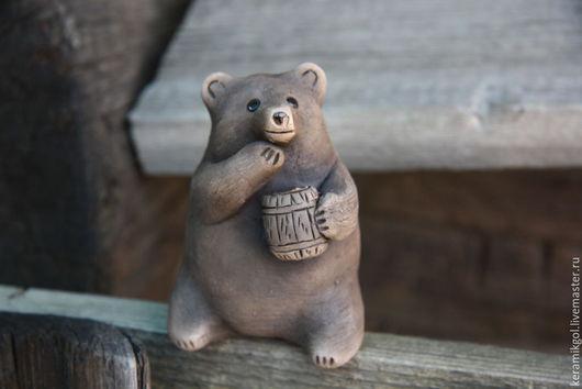 Игрушки животные, ручной работы. Ярмарка Мастеров - ручная работа. Купить Окарина Медведь. Handmade. Коричневый, керамика ручной работы