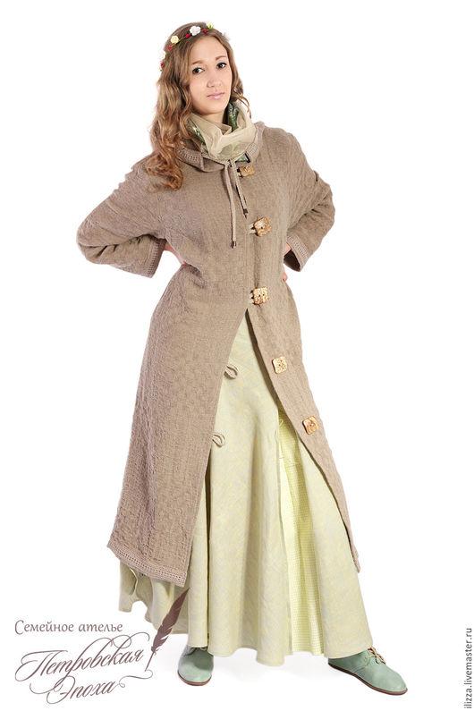 """Верхняя одежда ручной работы. Ярмарка Мастеров - ручная работа. Купить Пальто из натурального льна ,,1"""". Handmade. Серый"""