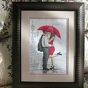 Вышивка дождь для двоих 968