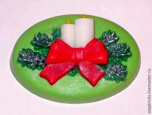 Мыло ручной работы. Ярмарка Мастеров - ручная работа. Купить Мыло Рождественские свечи. Handmade. Комбинированный, новогодний сувенир