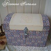 "handmade. Livemaster - original item ""Итальянская мозайка""-Сундук. Handmade."