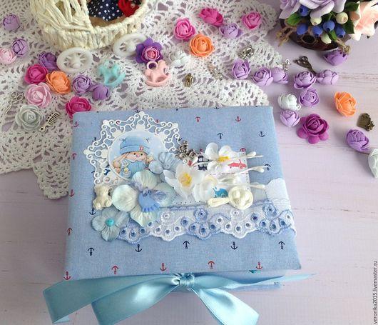 """Подарки для новорожденных, ручной работы. Ярмарка Мастеров - ручная работа. Купить Коробочка """" мамины сокровища"""". Handmade. Голубой"""