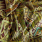 """Аксессуары ручной работы. Ярмарка Мастеров - ручная работа Платок шелк """"Африканские узоры"""". Handmade."""