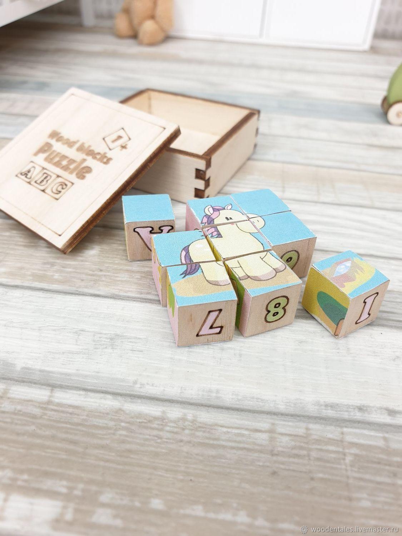 Миниатюрные деревяные кубики для кукол 1/8, 1/6, набор деталей, Кукольные домики, Королев,  Фото №1