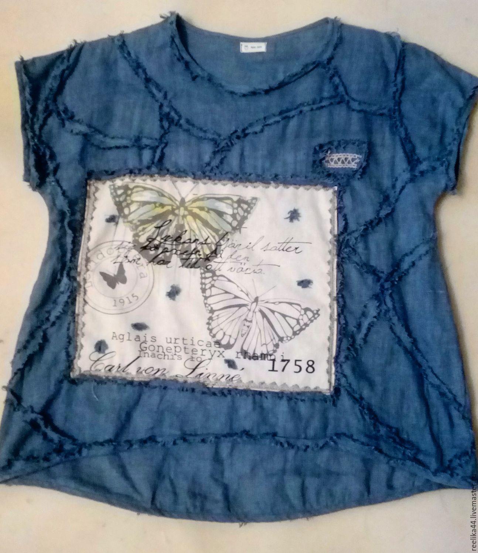 64041bb2223 Блузки ручной работы. Ярмарка Мастеров - ручная работа. Купить Блуза изо  льна а ля ...