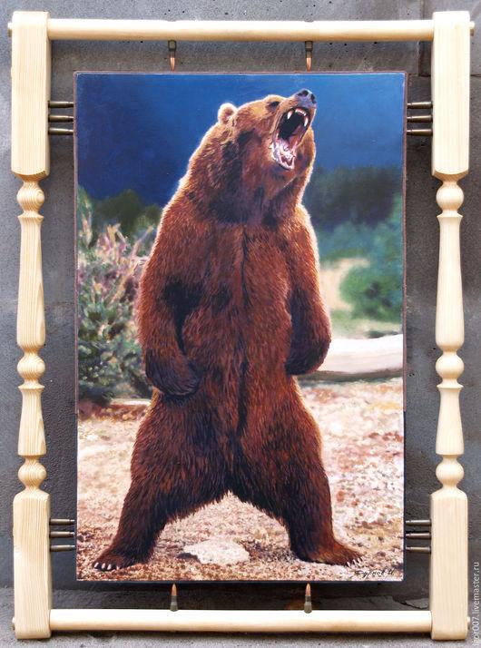 Животные ручной работы. Ярмарка Мастеров - ручная работа. Купить Медведь. Handmade. Охота, подарок мужчине, дерево сосна