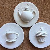 Материалы для творчества handmade. Livemaster - original item Pads on the tea house plaster. Handmade.