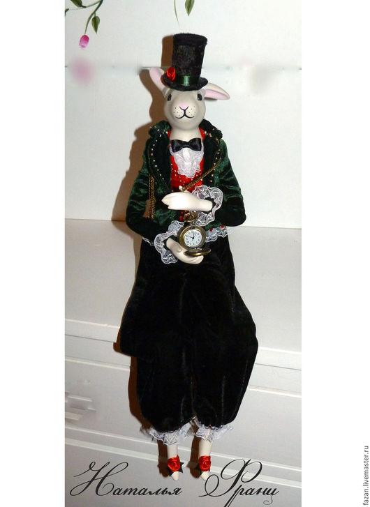 игрушка Белый кролик с часами из Алисы в стране чудес