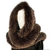 Аксессуары handmade. Livemaster - original item Snood-a scarf with fur trimming