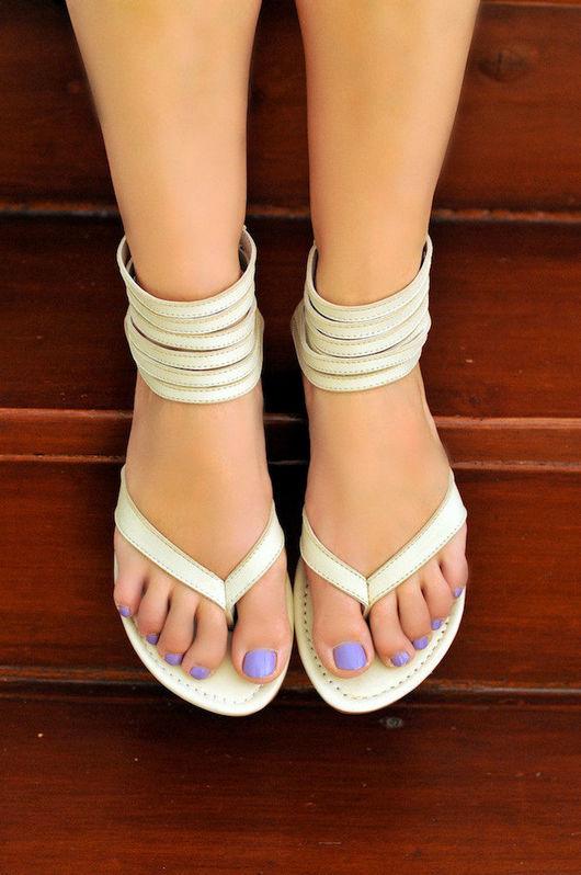 Обувь ручной работы. Ярмарка Мастеров - ручная работа. Купить Molle. Воздушные женские кожаные летние сандалии.. Handmade. Сандалии