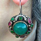 Украшения handmade. Livemaster - original item Earrings made of 925 sterling silver