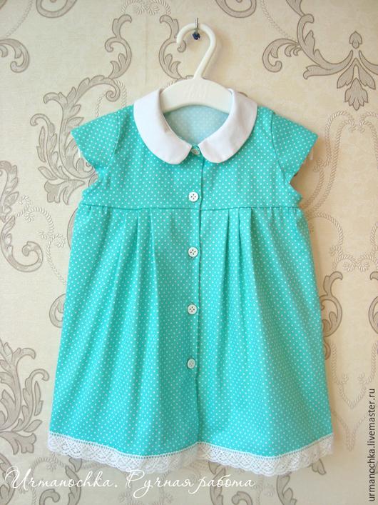 """Одежда для девочек, ручной работы. Ярмарка Мастеров - ручная работа. Купить Платье для девочки  """"Тиффани"""". Handmade. Тиффани, платье в горошек"""