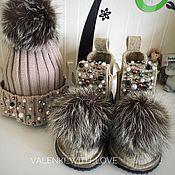 Обувь ручной работы. Ярмарка Мастеров - ручная работа Валеши с декором и мехом. Handmade.