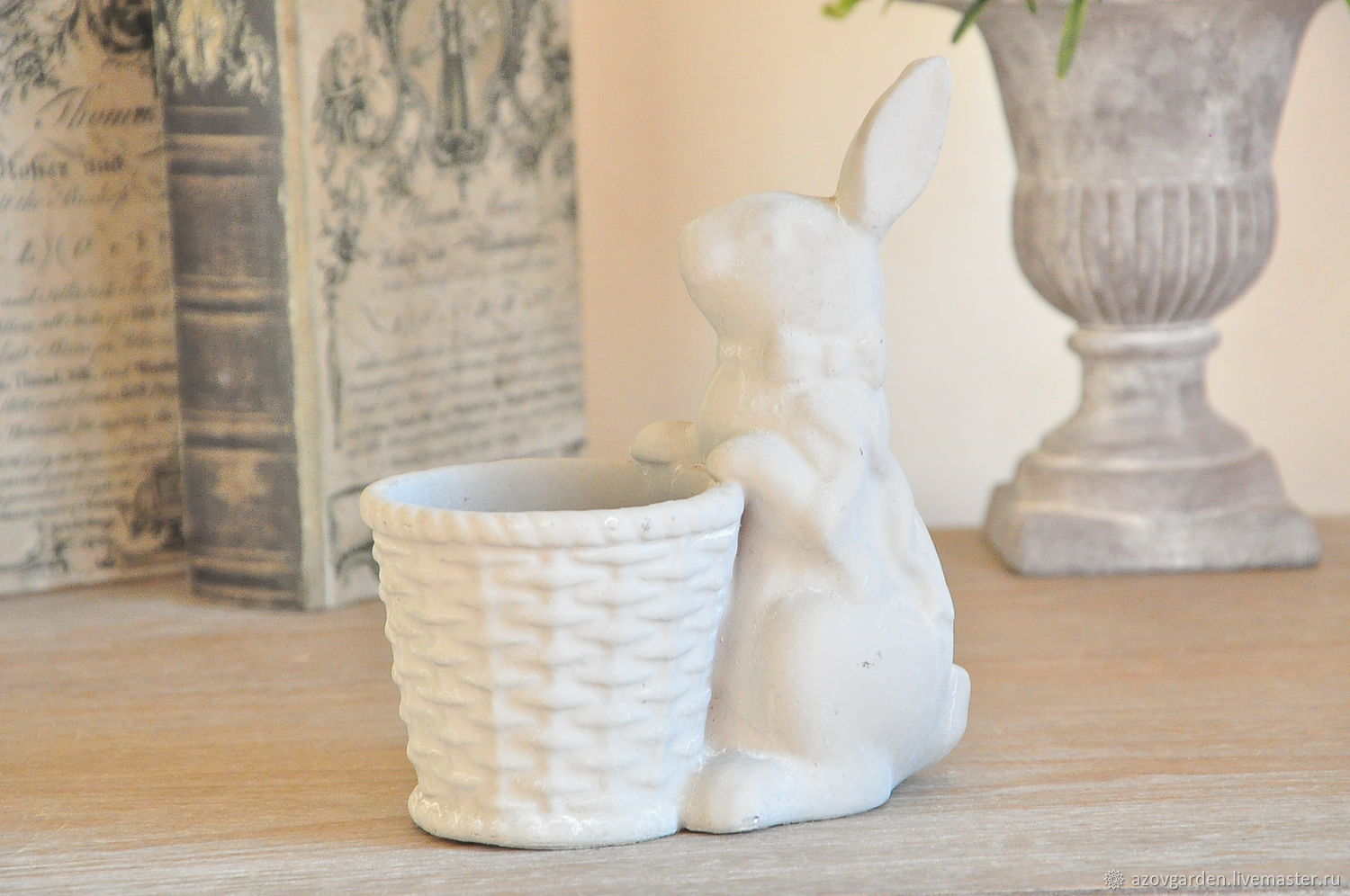 Hare with concrete planters for interior decoration Provence, Shabby, Vintage, Vases, Azov,  Фото №1