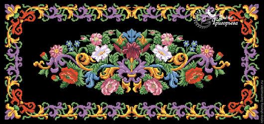 """Вышивка ручной работы. Ярмарка Мастеров - ручная работа. Купить Схема вышивки """"Красота"""". Handmade. Схема для вышивки, ретро"""