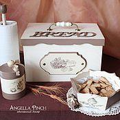 """Для дома и интерьера ручной работы. Ярмарка Мастеров - ручная работа """"Какао с ванилью"""" - набор для кухни. Декупаж.. Handmade."""