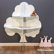 Полки ручной работы. Ярмарка Мастеров - ручная работа Полка стеллаж Дерево для книг и игрушек. Handmade.