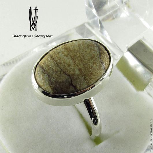 Кольца ручной работы. Ярмарка Мастеров - ручная работа. Купить Перстень с песочной яшмой. Handmade. Серебряный, серебро 925 пробы