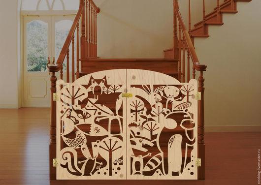 Мебель ручной работы. Ярмарка Мастеров - ручная работа. Купить Ворота для лестницы.. Handmade. Комбинированный, ворота, детская, ширма, лестница