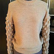 Одежда ручной работы. Ярмарка Мастеров - ручная работа Стильный свитер МАЛИНКА. Handmade.