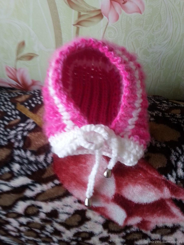 Белье ручной работы. Ярмарка Мастеров - ручная работа. Купить Пуховые шапки чепчики. Handmade. Красный