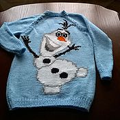 Работы для детей, ручной работы. Ярмарка Мастеров - ручная работа Веселый снеговик. Handmade.
