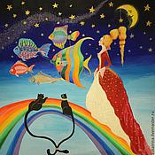 """Картины и панно ручной работы. Ярмарка Мастеров - ручная работа Картина """"Принцесса на прогулке"""". Handmade."""