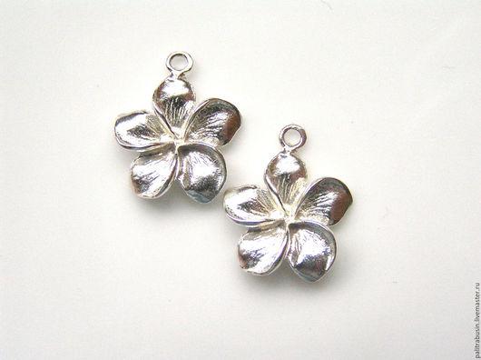 Для украшений ручной работы. Ярмарка Мастеров - ручная работа. Купить Подвески цветы серебро 925 пробы Бали. Handmade.