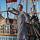 """Платья ручной работы. Ярмарка Мастеров - ручная работа. Купить Платье """"Морской фестиваль"""". Handmade. Море, Платье нарядное"""