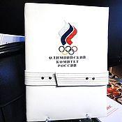Папки ручной работы. Ярмарка Мастеров - ручная работа Кожаная папка для документов А4 Олимпиада Подарок мужчине спортсмену. Handmade.