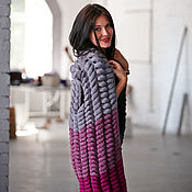 Одежда ручной работы. Ярмарка Мастеров - ручная работа Малиново-серый жилет. Handmade.