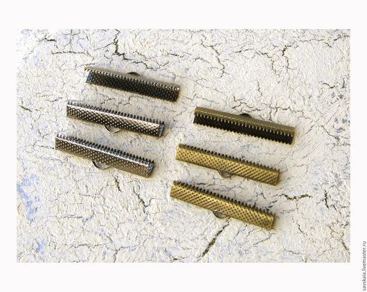 Зажим для браслета 35 ммx7.5 мм, железный сплав