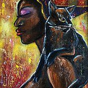 Картины и панно ручной работы. Ярмарка Мастеров - ручная работа Картина маслом Царица Египта. Handmade.