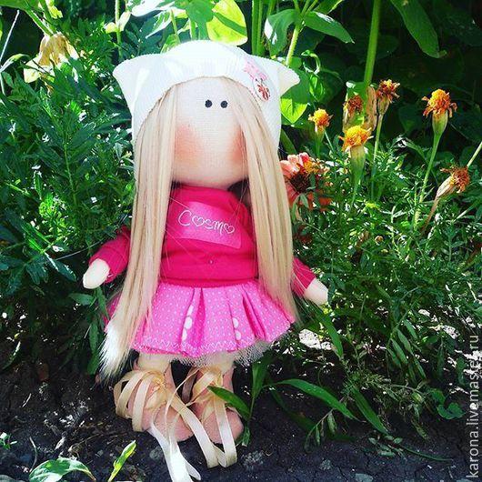 """Куклы тыквоголовки ручной работы. Ярмарка Мастеров - ручная работа. Купить Кукла """"Ксюха"""". Handmade. Розовый, кукла ручной работы"""