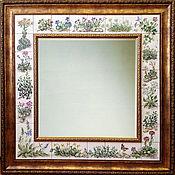 Для дома и интерьера handmade. Livemaster - original item Painted mirror Mirror Alpine slide. Handmade.