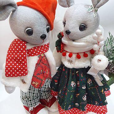 Куклы и игрушки ручной работы. Ярмарка Мастеров - ручная работа Игрушки: Мышки новогодние. Handmade.