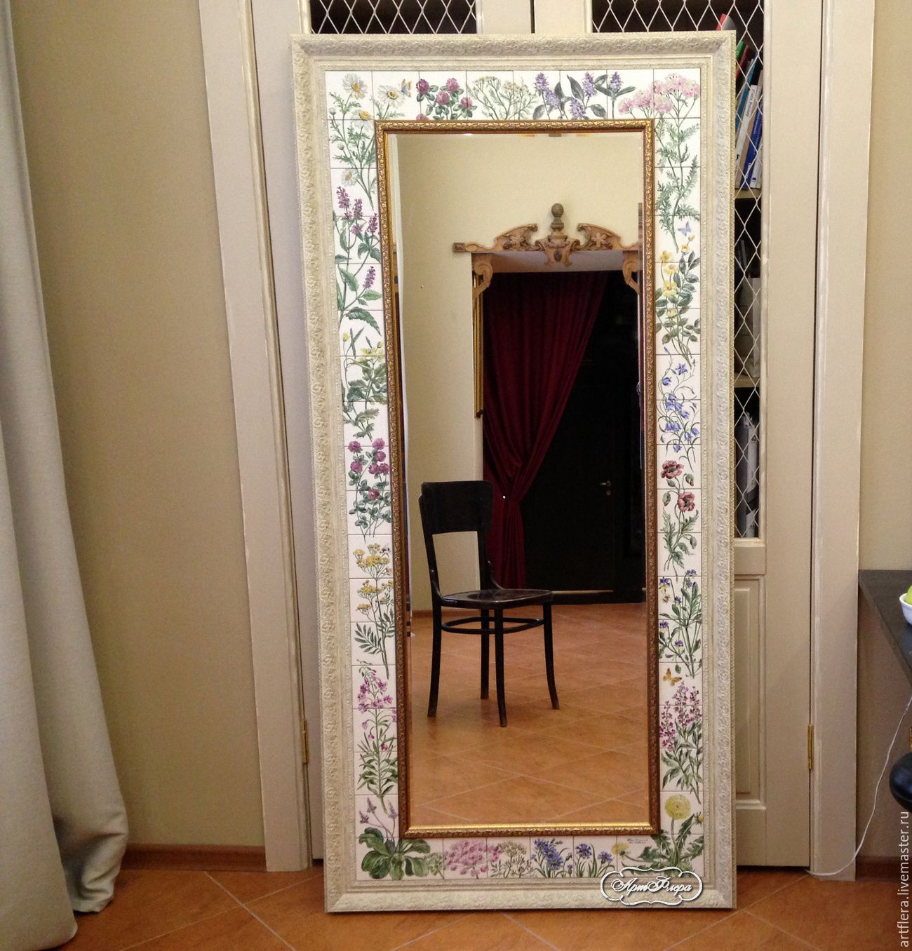 Painted mirrors wildflowers, Mirror, Kazan,  Фото №1